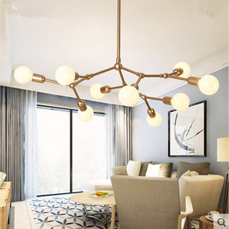 Aliexpress Buy Modern led pendant lights Gold dining room