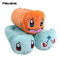 Monster Charmander Bulbasaur Squirtle Plush Pen / Cosmetic Bag Soft Stuffed Animal Dolls Toys 23X9CM