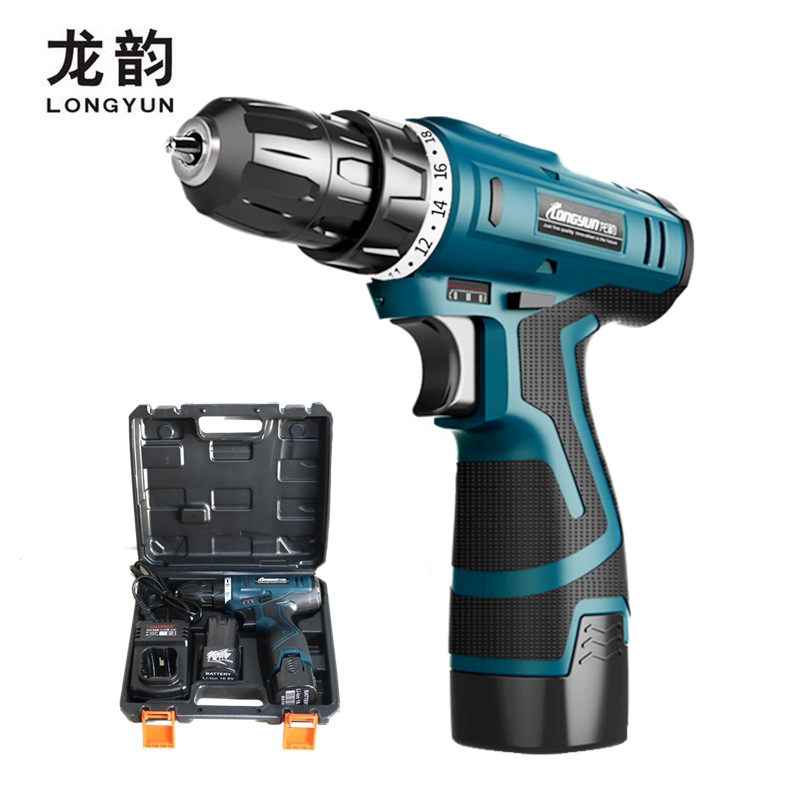 Longyun 16 8V Lithium Battery Electric Drill with Suitcase Charging Screwdriver Cordless drill Torque drill driver