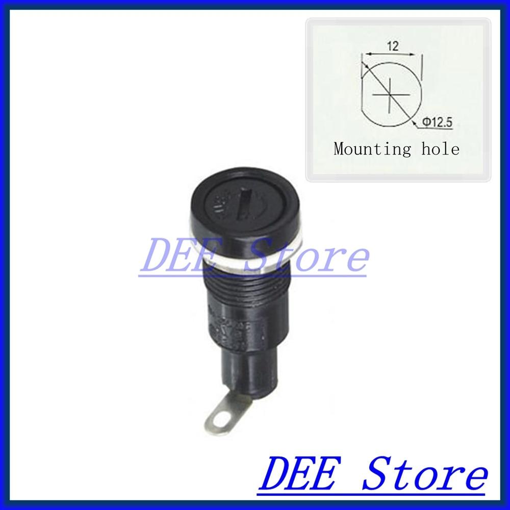5x20 fuse block fuse holder Panel Mount fuseholder fuse holders for 5 20mm cylindrical Glass Tube