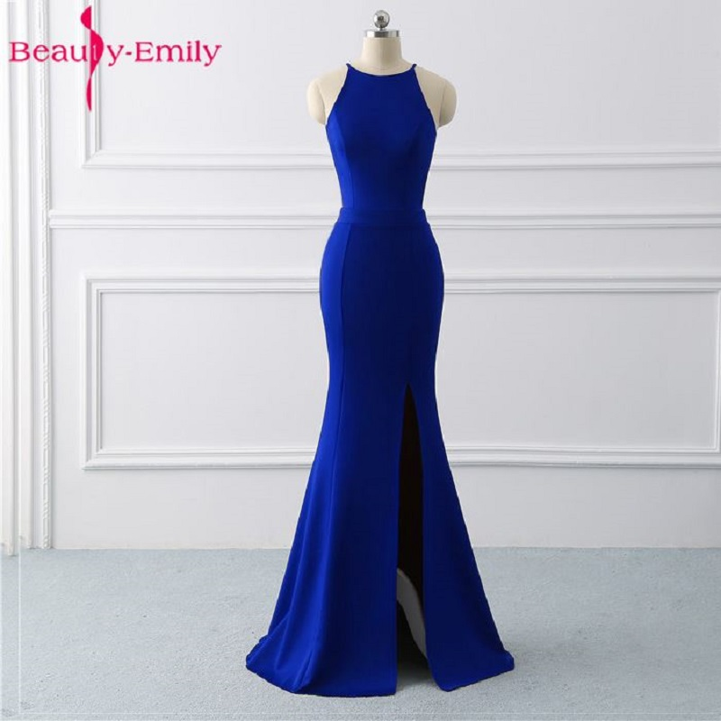 Beauty Emily Royal Blue Mermaid   Evening     Dresses   2019 Long Formal   Evening   Gowns Party Prom Formal Party   Dress   reflective   dresses