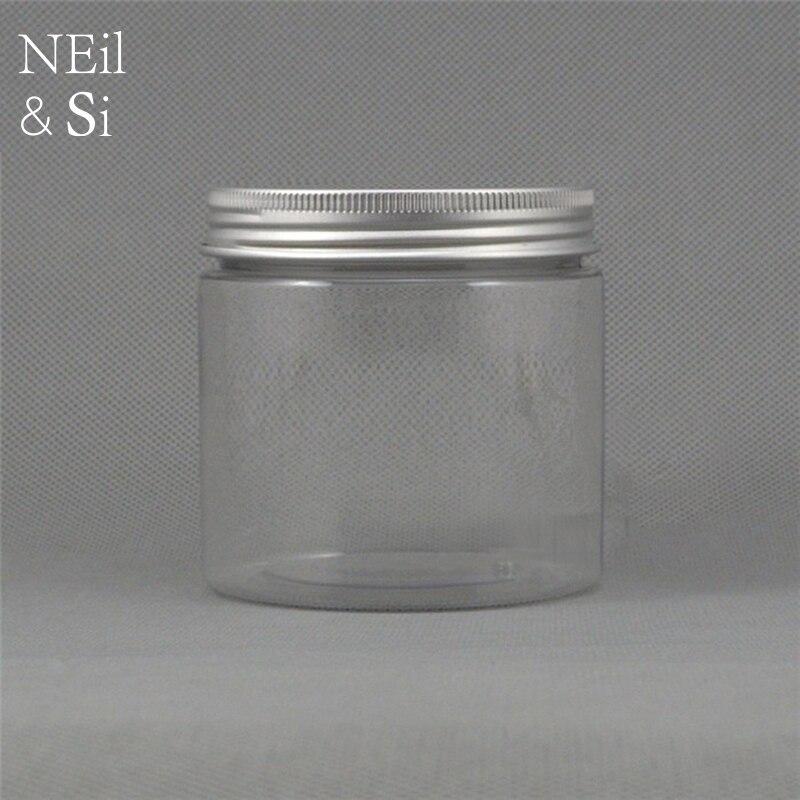Transparentní 200g plastová láhev prázdná kosmetická maska krém krém Jarní pilulka tobolka balení kontejnery doprava zdarma