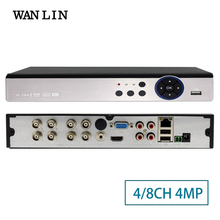 WANLIN 4CH 8CH 4MP 3MP 5in1 Hybrid AHD DVR NVR Digitalen Video Recorder Register Unterstützung CVBS AHD TVI CVI Ip-kamera 5MP Onvif