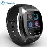 M26 deporte smart watch smartwatch android con dispositivos portátiles de reproductor de música de alarma podómetro para samsung htc android teléfono reloj