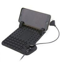 Universal mobile điện thoại car người giữ điện thoại với sạc cáp usb cho iphone samsung huawei khung điều chỉnh nam châm nối