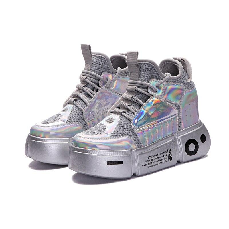 Women's Sneakers Platform Shoes 2019 Spring Hidden Heels Chunky Sneakers For Woman Autumn Shoes Casual Sneaker Women Chunky Shoe