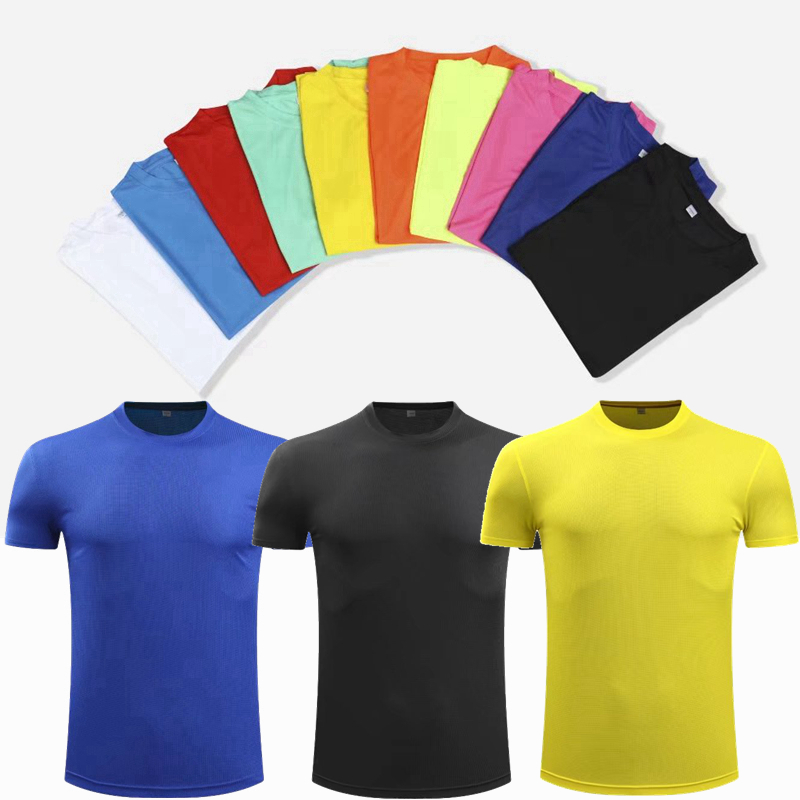 Short-Sleeve Sportswear Gym-Shirt Fitness Training Quick-Dry Breathable Light Polyester