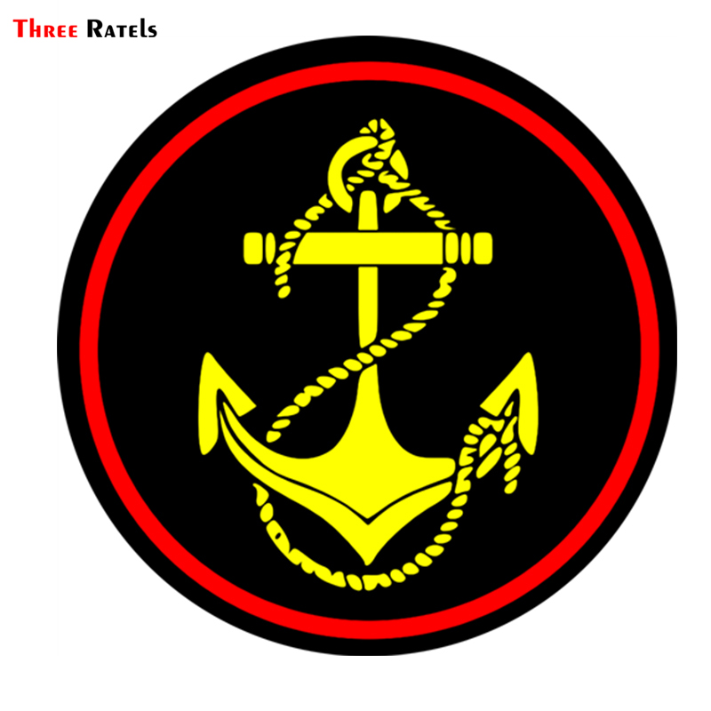 Three Ratels TRL110#  15x15cm  Marine Corps Of Russia Car Sticker Funny Car Stickers And Decals Car Sticker Not Reflective