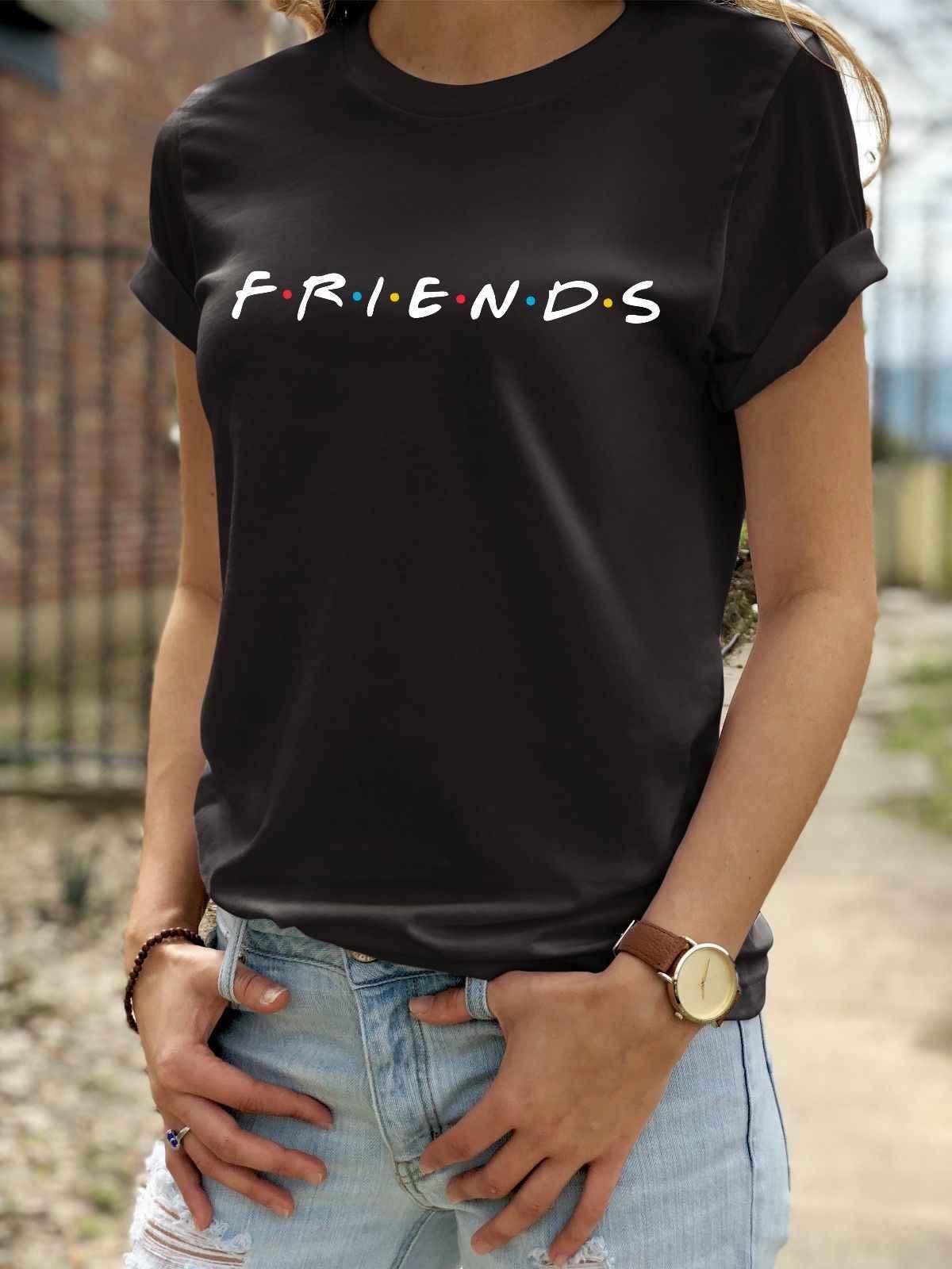 41e7cc232bd friends t shirt unisex. tv series joey ross rachel loose casual baggy  fashion Cool Casual