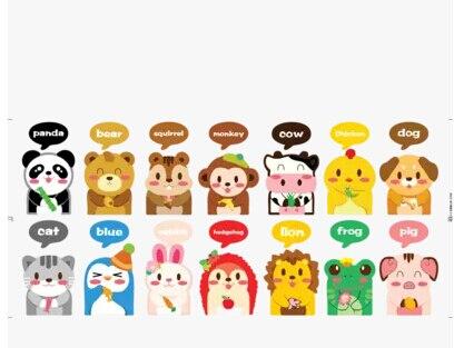 Cartoon animal free stickers,switch,laptop,furniture,fridge,kids