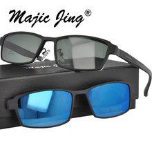 Металлическая оправа для очков с дужками TR для мужчин, очки на застежке, солнцезащитные очки на застежке, солнцезащитный козырек S9317