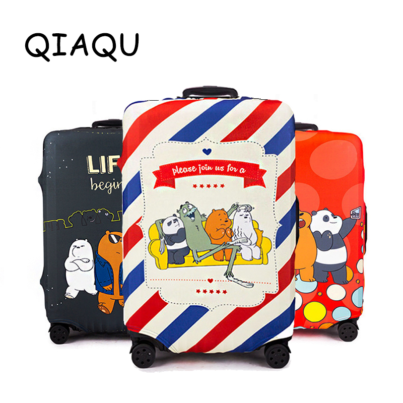 Cartoon Bear Pattern Luggage Protector Traveling Accessories Suitcase Elastic Protective Covers Trolley Case Dust For 18-32 Inch