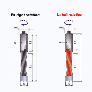 Image 5 - HUHAO 1pc 4mm 9.5mm wood drill bit 70mm length router bit row drilling for boring machine Gang drills for wood Carbide endmill