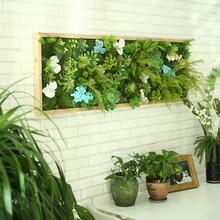 Artificial Plant Lawn DIY Background Wall Simulation Grass Leaf Wedding Home Decoration Green Wholesale Carpet Turf Office Decor цена и фото