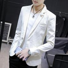 Men's Blazers and Suit Jackets One Button Striped Casual Suit Mens Blazer Jacket Slim fit New недорго, оригинальная цена