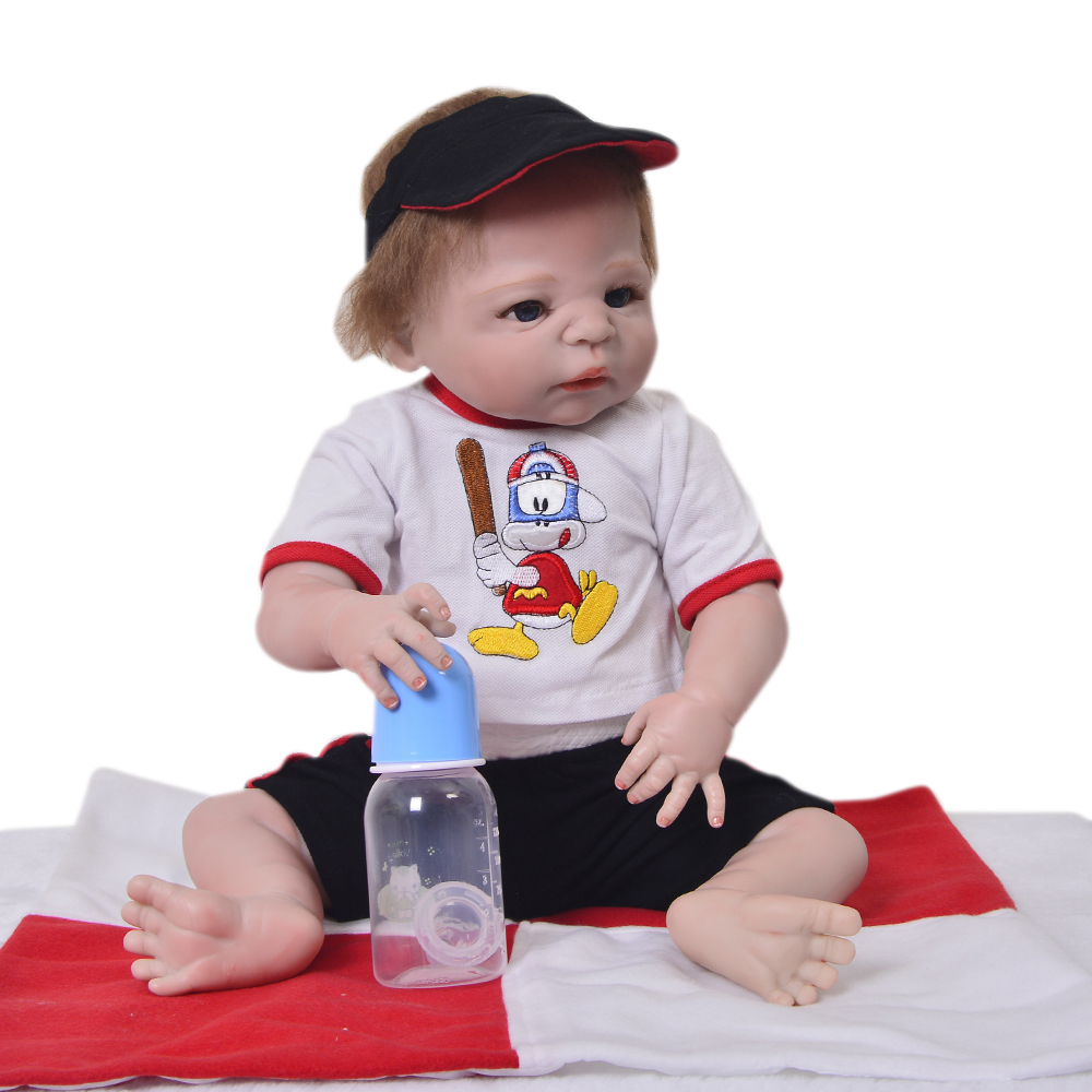 Latest Reborn Baby Dolls Full Body Silicone Vinyl 23 Inch 58 CM Newborn Boy Babies With