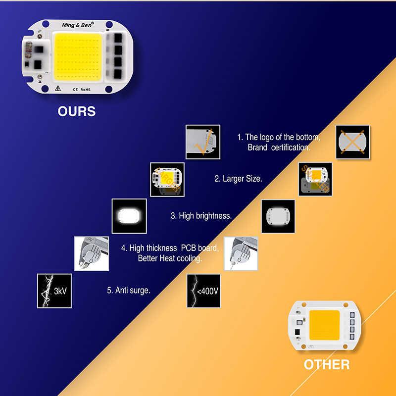 Led di Chip Cob per Coltiva La Pianta Spettro Completo Della Luce 220V 110V 20W 30W 50W per impianto Al Coperto Piantina Crescere E La Crescita Del Fiore di Illuminazione
