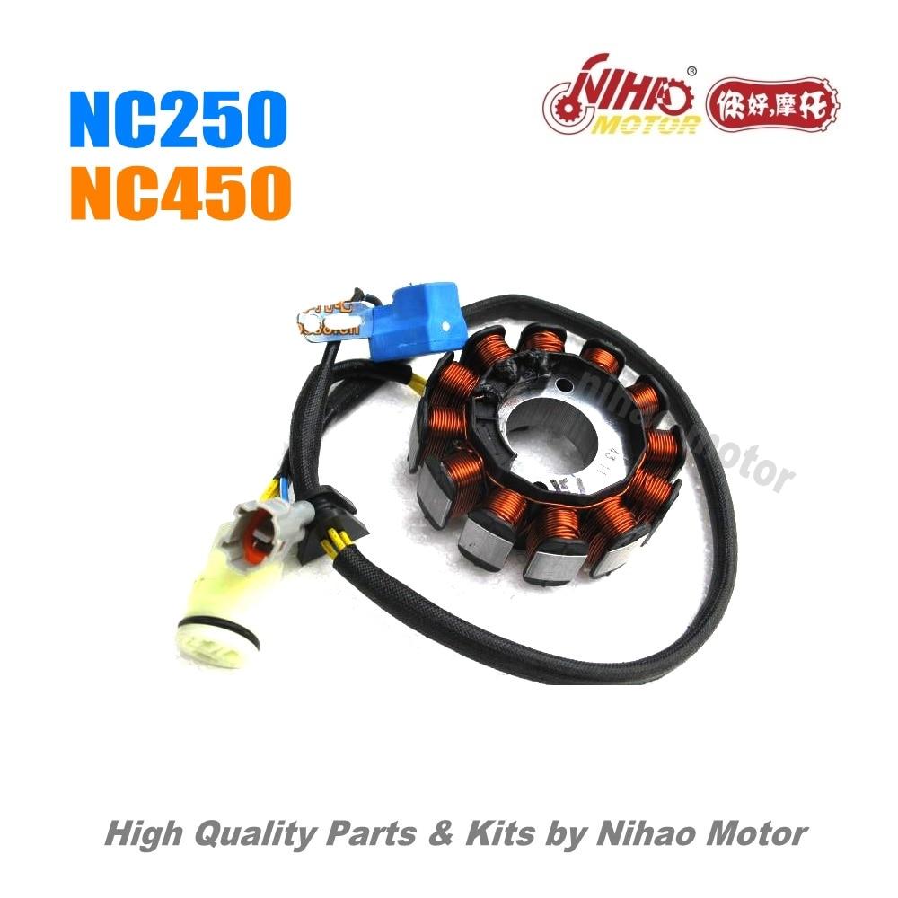 2 NC250 NC450 pièces Stator bobine ZONGSHEN moteur NC RX3 ZS177MM (moteur Nihao) KAYO Motoland esb Megelli Asiawing Xmoto