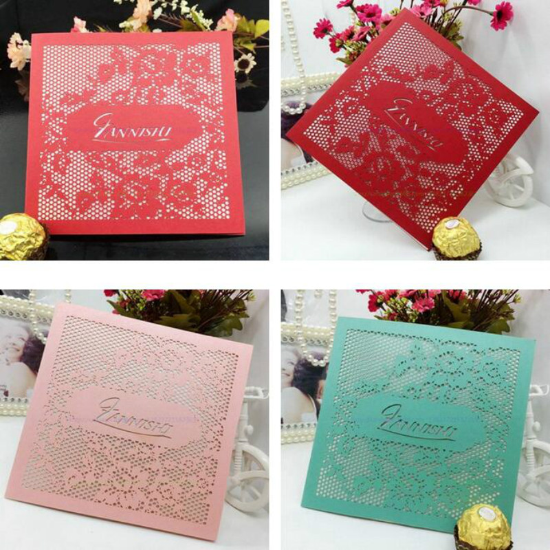 Wedding Invitations Business: New 10Pcs Delicate Carved Wedding Party Invitation Card