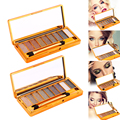 Professional Eye Makeup  Eyeshadow Palette 9 Colors Shimmer Diamond Glitter Eye Shadow Palette & Makeup Cosmetic Brush