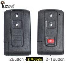 KEYECU Toyota Prius para Substituição Inteligente Remoto Shell Chave Do Carro Caso Fob 2/2 + 1 Botão Com Lâmina Sem Cortes (apenas Shell)