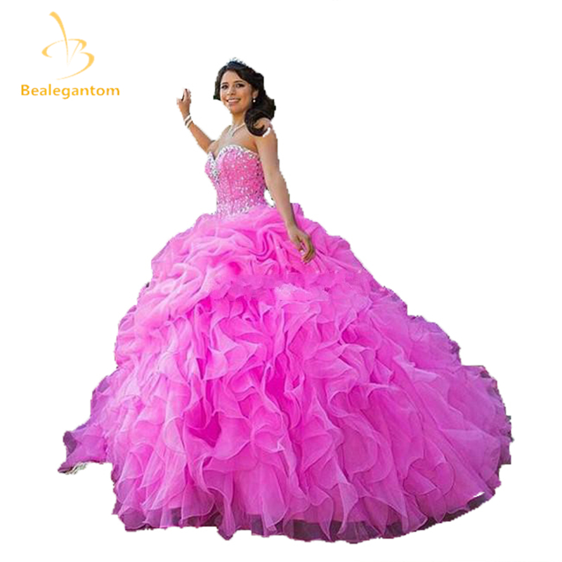 Ball-Gown Quinceanera-Dresses Sweetheart Sequined New Beading Crystal With 16-Dresses/vestidos-De-16
