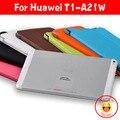 """Для Huawei T1-A21W Tablet Case Высокое качество tri-fold стенд Кожаный Чехол для huawei honor примечание t1 a21w 9.6 """"таблетки случае подарок"""