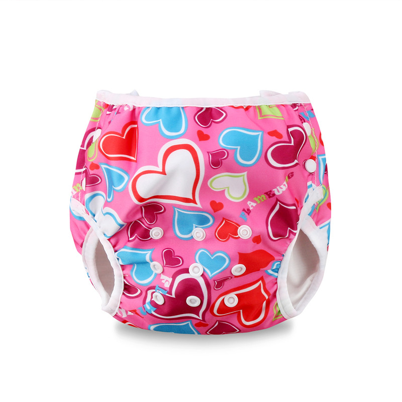 Summer Baby Reusable Swim Diapers Boys And Girls Cartoon Swimwear Children Adjustable Swimming Waterproof Pants