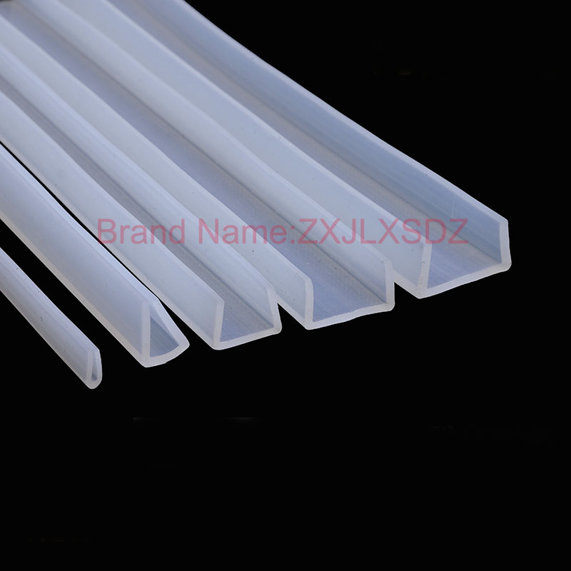 2 Meters U Channel Silicone Rubber Glass Seal Strips Shower Room Door And Window  Glass Edge Trim Glazing Weatherstrip
