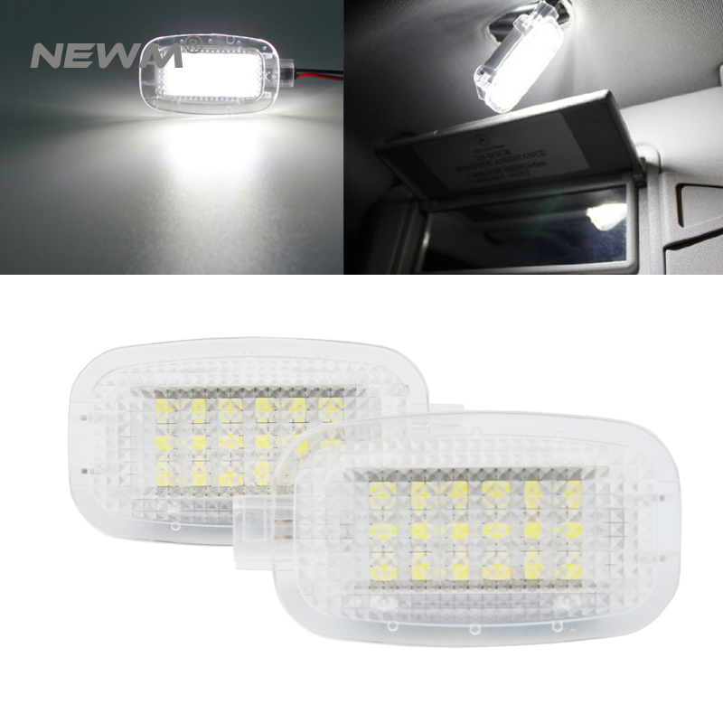 2X LED Car Door Courtesy Luggage Footwell Shadow Lights For Mercedes/Benz W204 W216 W217 W221 R230 C197 W212 W169 Canbus