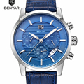 BENYAR Reloj Cuarzo de Los Hombres de Marca de Relojes de Lujo de Los Hombres Reloj Resistente Al Agua Reloj de Los Hombres relojes de Pulsera Relogio masculino reloj de Moda hombre