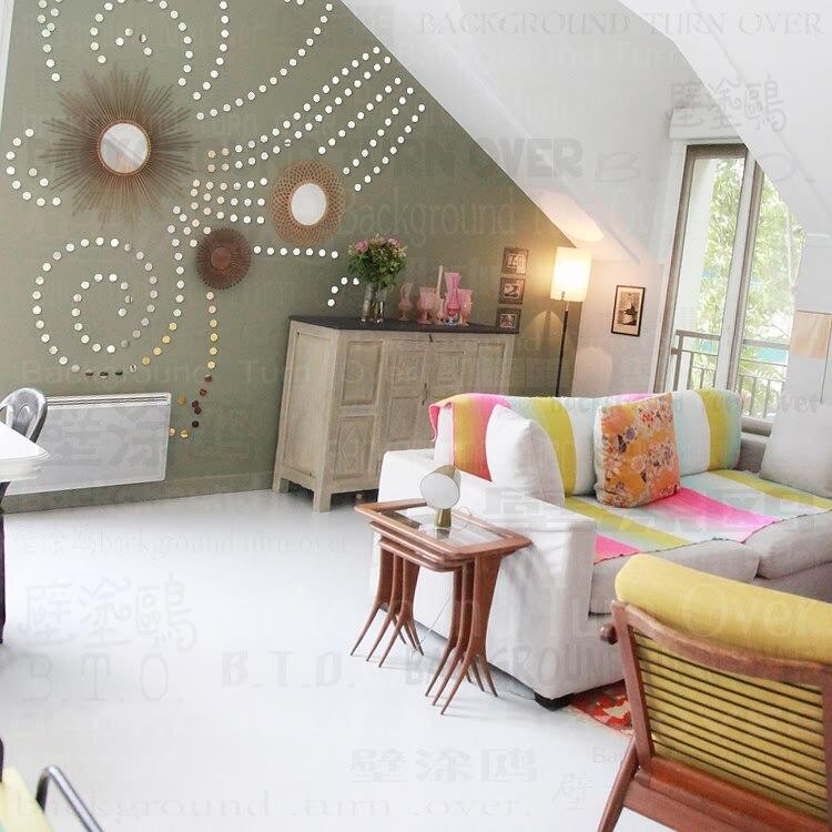 DIY pflanze baum muster runde dot 3d wandaufkleber wohnkultur großen wandspiegel schlafzimmer bett kopf aufkleber wandaufkleber poster R101 - 2
