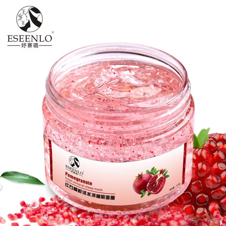 ESEENLO Red Pomegranate Sleeping Mask Face Care Whitening Dark Spot Remover Facial Mask Anti Wrinkle Aging Skin Care Face Mask