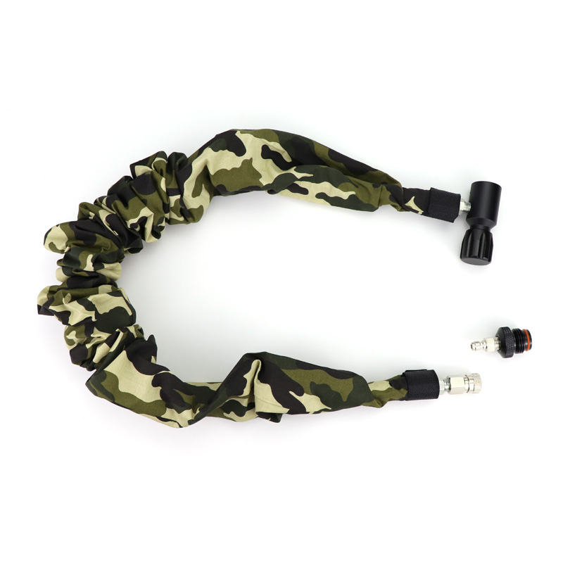 New Paintball Air Gun Airsoft PCP Air Rifle Coil Remote Hose(2.5M) With Quick Disconnect And Camo Cover Acessorios Free Shipping