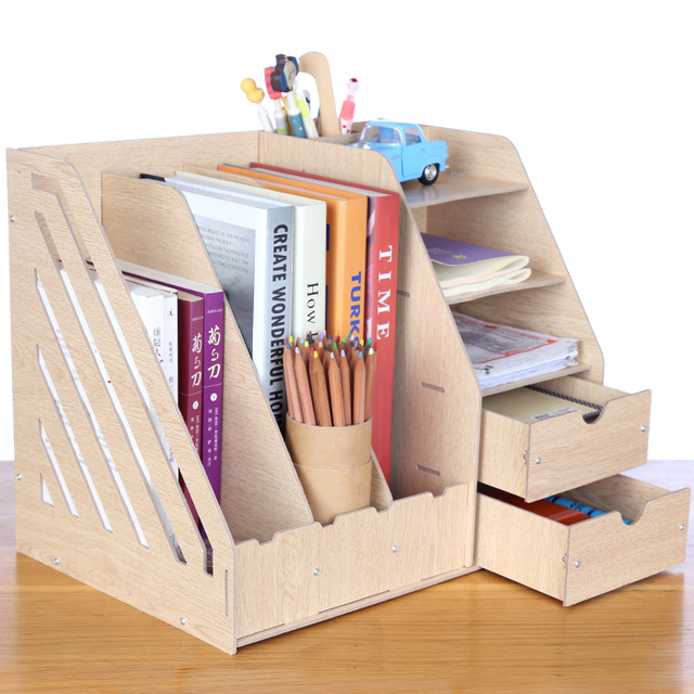 office shelving solutions. Large Wooden Desk Storage Rack Box Finishing Boxes 4 Folder Office Shelving  Products Solutions E