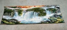 160x60 Cm * /Nepal silk embroidery thangka sunrise waterfall landscape