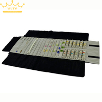 Newest Jewelry Foldable Roll Bag Velvet Organizer Multi Functional Necklace Rings Earrings Organizer Storage Box 76*24cm