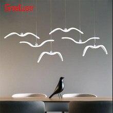 Nordic Seagull Design Led Chandeliers For Bar/Kitchen Birds Chandelier Ceiling Acrylic Lustre Suspension Luminaire Light Fixture
