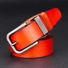 Vintage Pin Buckle Genuine Leather Belt For Men