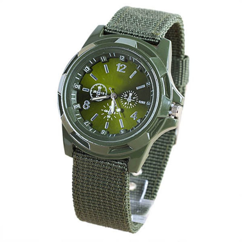 Men Boy Watch Military Army Sports Watches Quartz Nylon Band Easy To Read Wrist Watch
