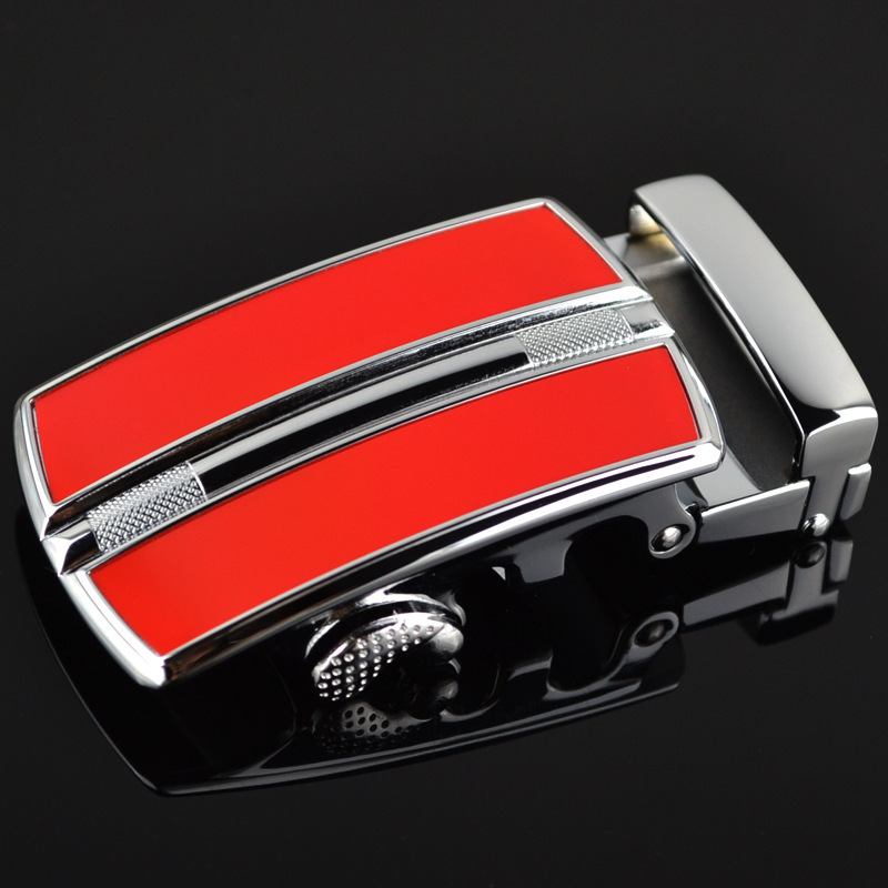 Men Annual Red Automatic Buckle Alloy Belt Buckle Automatic Belt Buckle Couple Style Buckle LY10257-1 Automatic Belt Buckle