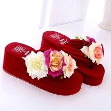 Vente chaude Chaussures Pour Les Femmes 100% Fait Main De Mode Pantoufles Nouveau Style Doux Fleur Plage D'été Tongs Plus La Taille 35-42