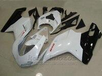 Кузов обтекатель комплект для Ducati 848 1098 07 08 09 10 11 белый черный обтекатели комплект 848 1198 2007 2011 DY65