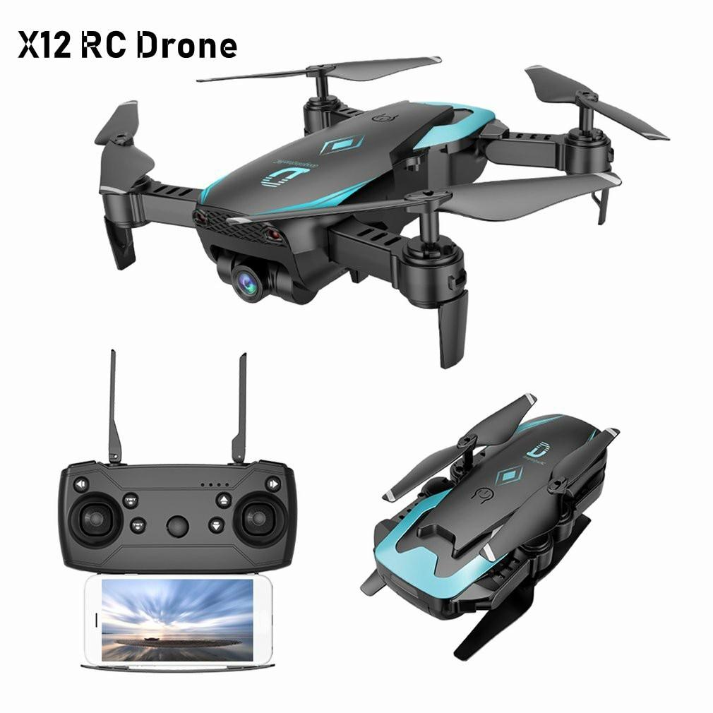 X12 FPV RC Pliable Dron avec Caméra HD Grand Angle Wifi RC Quadcopter Maintien D'altitude Un Retour Key Sans Tête Mode3D flipVS X5C