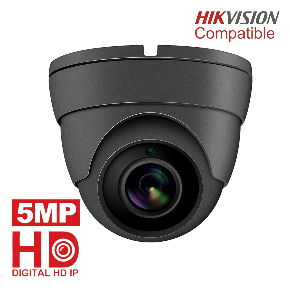 Hikvision Compatible 5MP Turret IP Camera Outdoor/Indoor 2592 X 1944 Security Dome Video Surveillance Camera Built-in Microphone