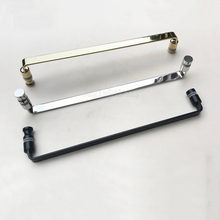 1PCS Solid 304 Stainless Steel Bathroom Door Handles Polish Chrome/Golden/Dumb Black Glass Handle C-C:440mm JF1807