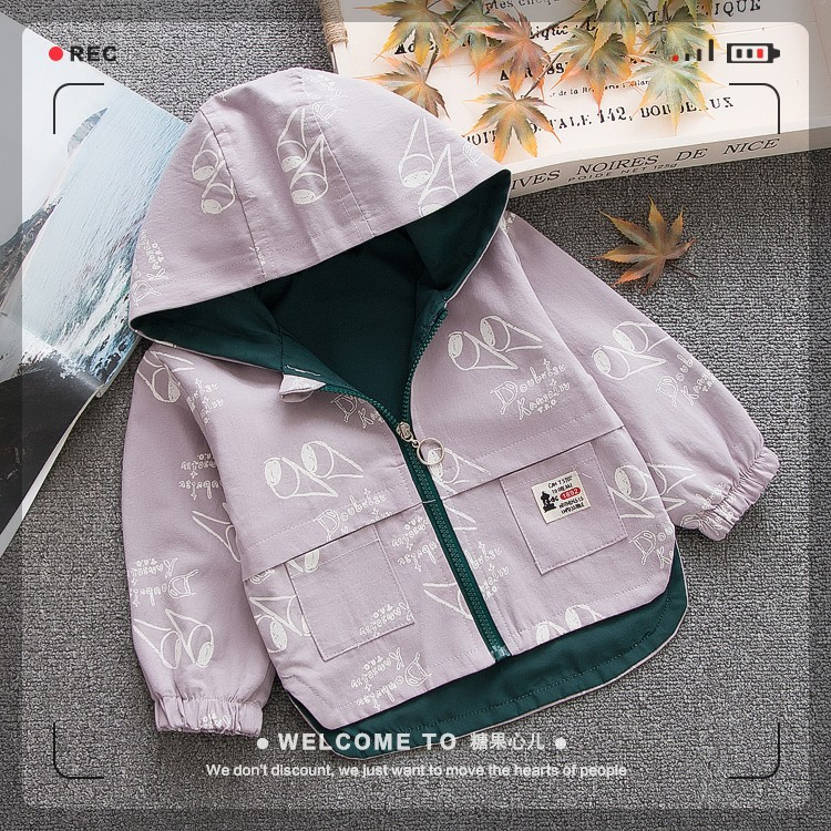 Icecream Baby Boys Jacket Hooded Mixing Cotton Coat Baby Toddler Windbreaker Spring Outerwear Autumn Little Kids Clothing Lined