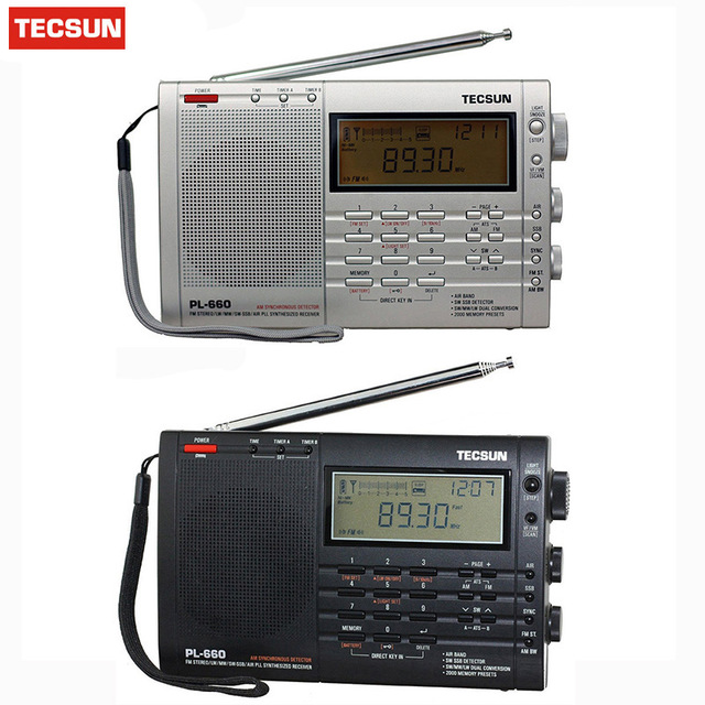 TECSUN PL-660 Radio PLL SSB VHF AIR Band Radio Receiver FM/MW/SW/LW Radio Multiband Dual Conversion TECSUN PL660 degen de1103 radio fm sw mw lw ssb digital radio receiver multiband dsp radio external antenna world band receiver y4162h