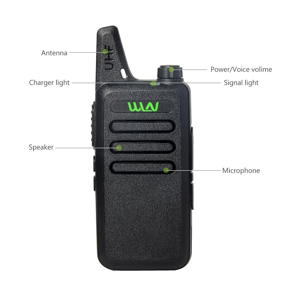 WLN KD-C1 Portable 2 way Radio in RUSSIA WAREHOUSE 5W long distance UHF walkie talkie with FREE Belt Clip