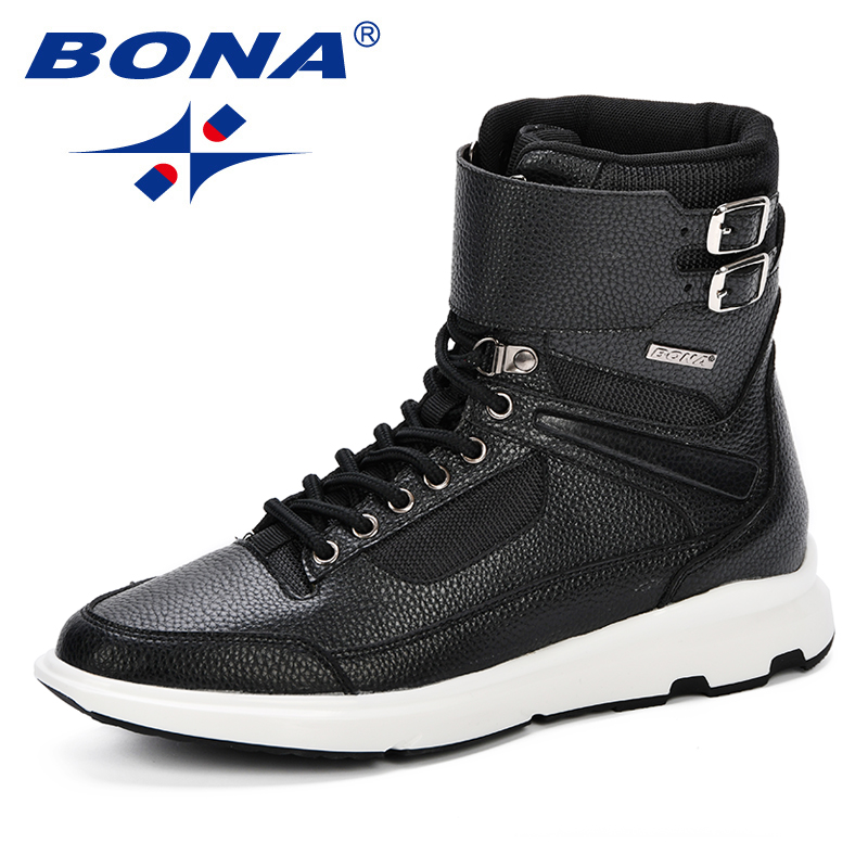 956696f51d Tobillo Grey Hombres Top Para dark Zapatos Moda Alta Calzado Black Blue  Otoño Bona deep Hombre ...